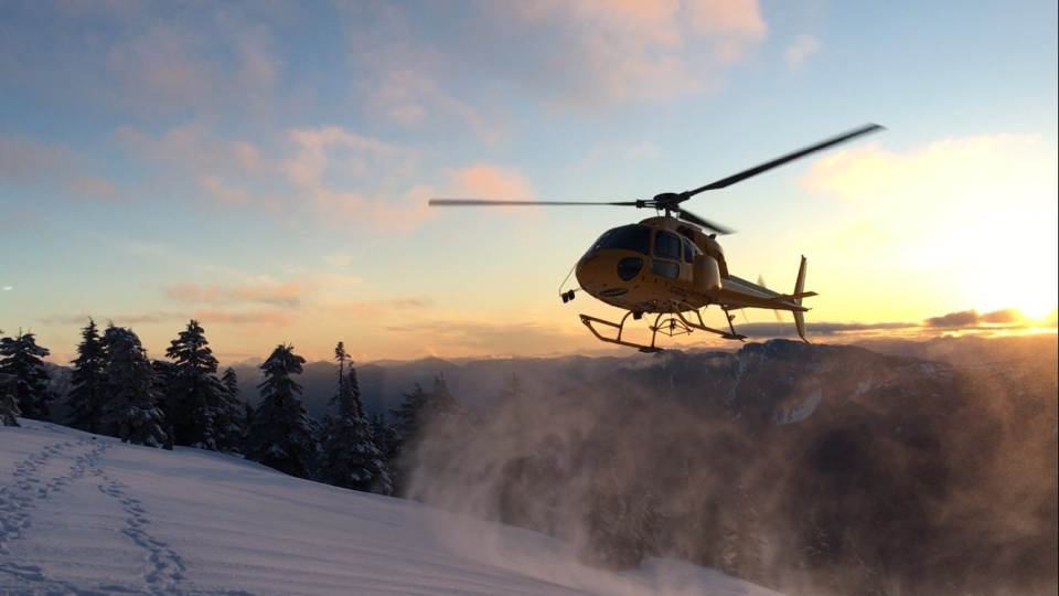 The teens were airlifted to safety after becoming stranded on top of Alouette Mountain.