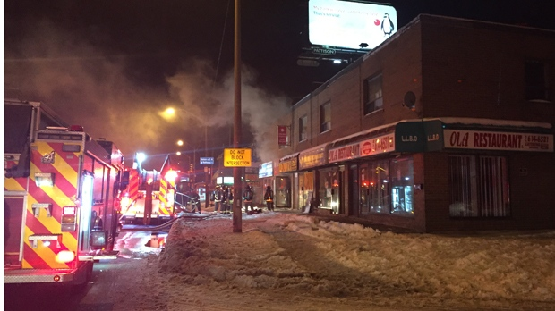 No injuries were reported after a fire at a restaurant in Brookhaven. (Mike Nguyen/ CP24)