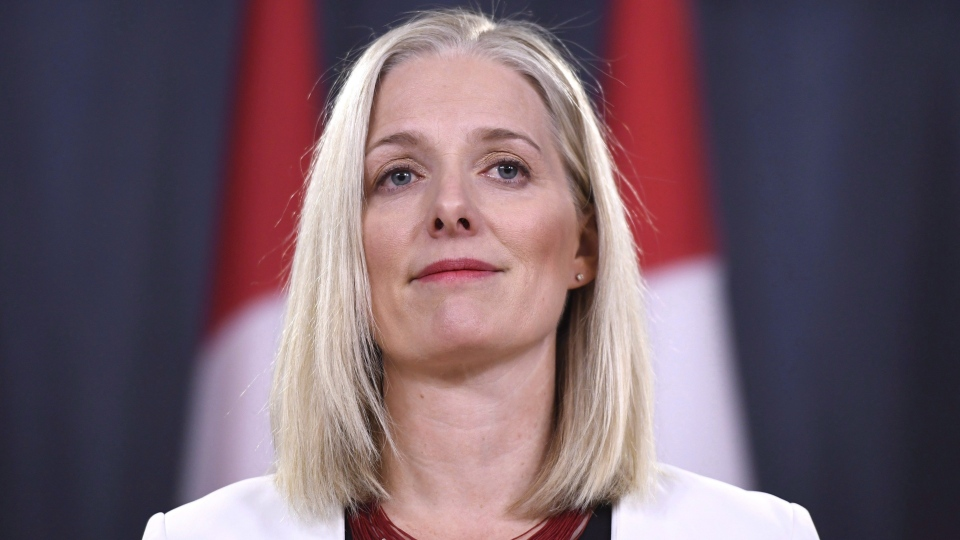 Minister of Environment and Climate Change Catherine McKenna speaks during a press conference in Ottawa on Thursday, Feb. 8, 2018. (THE CANADIAN PRESS/Justin Tang)