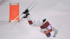 Marc-Antoine Gagnon takes part in the men's moguls
