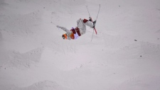 Mikael Kingsbury in the men's moguls finals