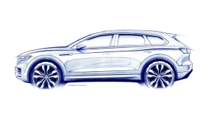 Third-generation VW Touareg teaser