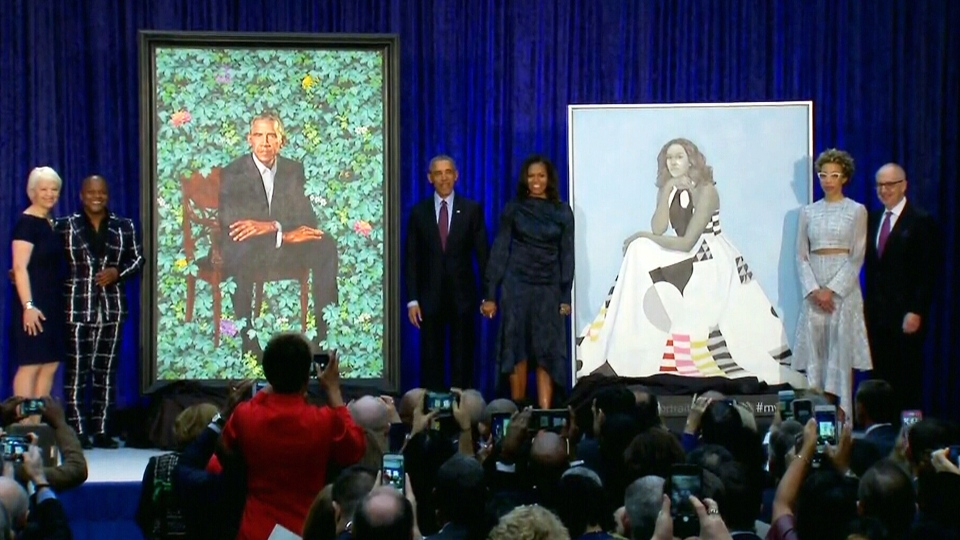 Obama portraits unveiled at National Portrait Gallery