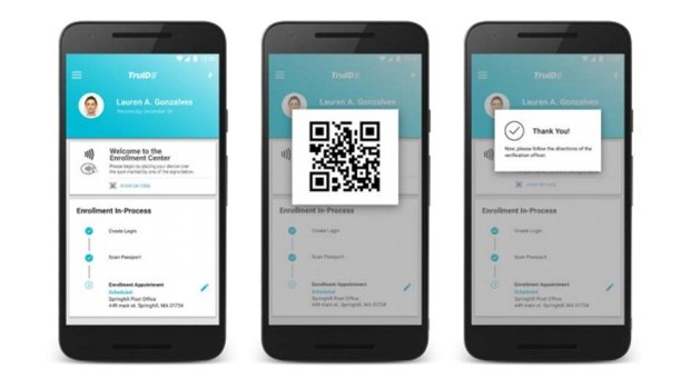 An example of the Known Traveller Digital Identity app is shown in this image from a document posted by the World Economic Forum.