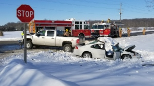 Norfolk County crash leaves 4 hurt, 1 seriously