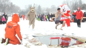 The Bon Soo Winter Carnival ends with a splash