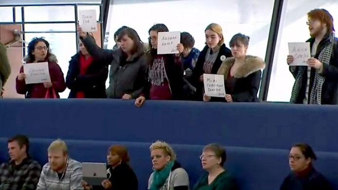 OCAP activists storm Toronto council meeting