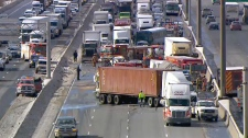 Crash on Highway 401 and Weston Road