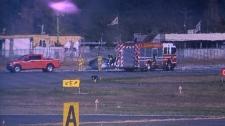 debris helicopter hard landing