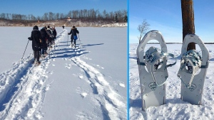 Snowshoeing Elk Island National Park