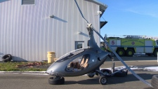 A helicopter-like aircraft called an autogyro