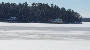 Father and son saved in daring ice rescue