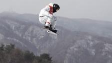 Shaun White in the men's snowboard halfpipe