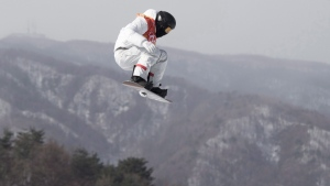 Shaun White in the men's snowboard halfpipe
