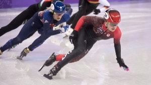 Kim Boutin competes in Gangneung, South Korea