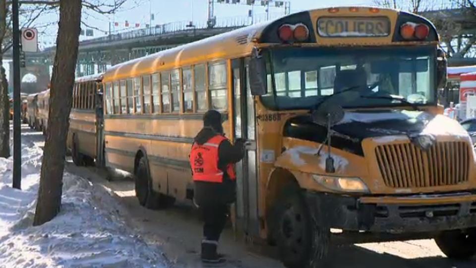 school bus, montreal