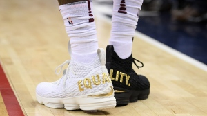 Cleveland Cavaliers forward LeBron James' shoes