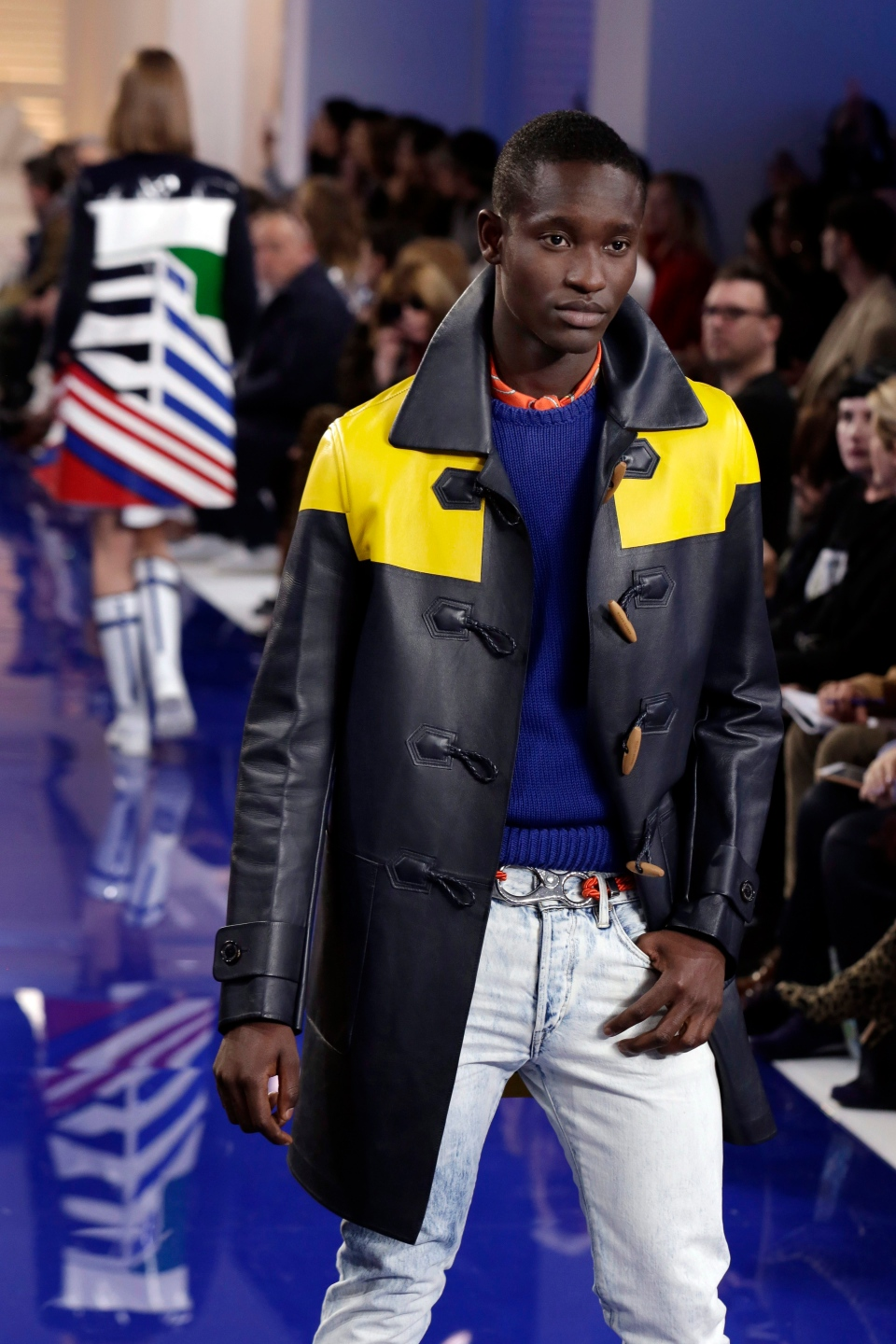 The Ralph Lauren collection is modeled during Fashion Week in New York, Monday, Feb. 12, 2018. (AP Photo/Richard Drew)