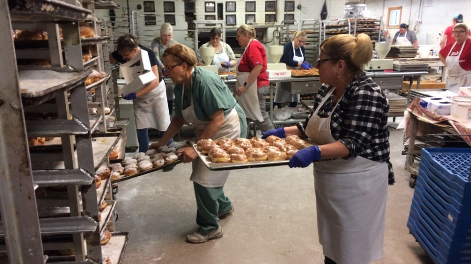 Blak's Barkey is working around the clock to meet the high demand of Paczki Day in Windsor-Essex on Feb. 13, 2018. (Michelle Maluske / CTV Windsor)