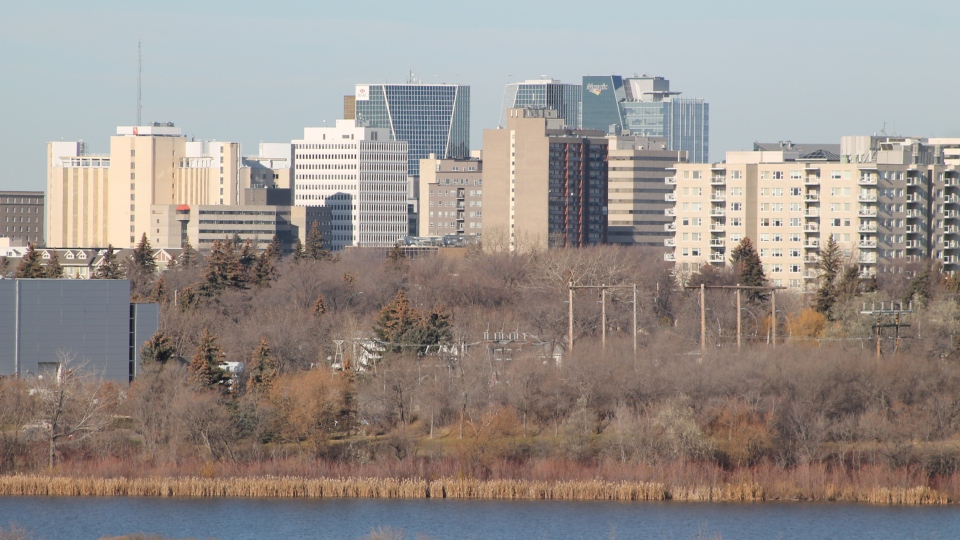 The Regina skyline is shown on Nov. 6, 2017 (Katherine Hill / CTV Regina)