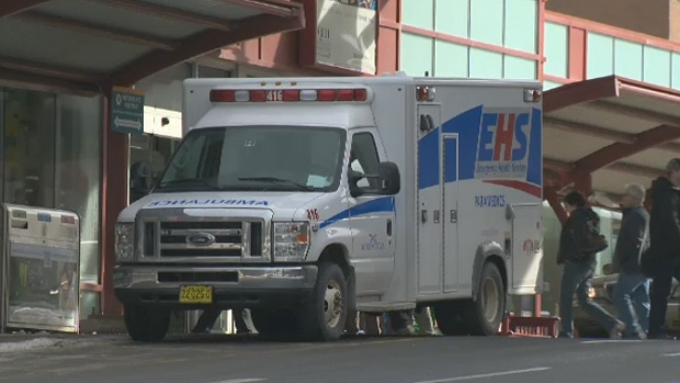 Paramedics say they're becoming stuck in backed up emergency rooms instead of the road.