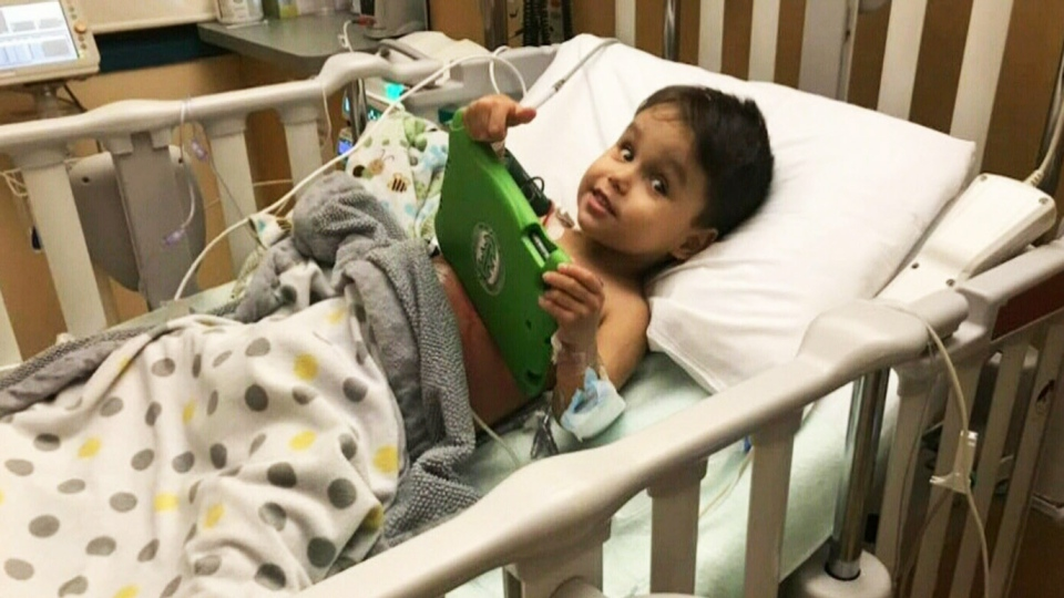 Zaccari Buell, 3, recovers in hospital after receiving a life-changing kidney donation. His mother was twice denied applications to provide the organ herself due to medical reasons.