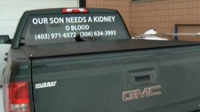 Window decal - Ryan Mclennan's need for kidney