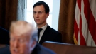 In this Nov. 1, 2017 file photo, White House senior adviser Jared Kushner listens as U.S. President Donald Trump speaks during a cabinet meeting at the White House, in Washington. (Evan Vucci/AP Photo)