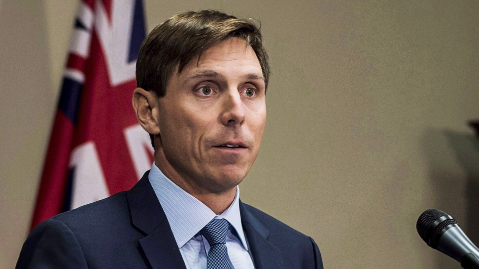 Former Ontario Progressive Conservative leader Patrick Brown speaks at a press conference at Queen's Park in Toronto on January 24, 2018. THE CANADIAN PRESS/Aaron Vincent Elkaim