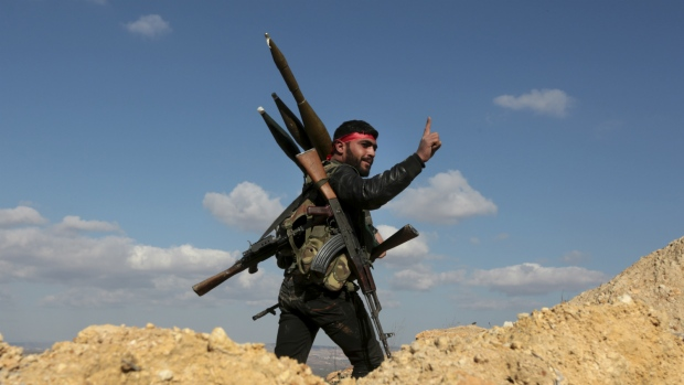 Fighter in Syria