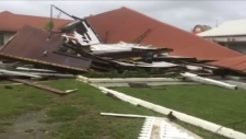 Damage after Cyclone Gita in Tonga