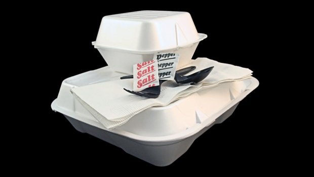 Styrofoam  food packaging