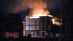 Fire destroys townhouses at Friday Harbour
