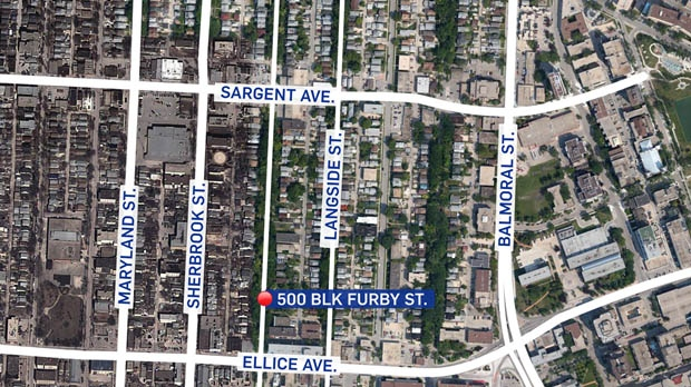 Map of 500 Furby Street