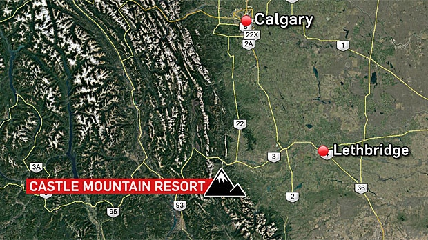 A 10-year-old girl died in hospital on Tuesday night after she was fatally injured on a hill at Castle Ski Resort near Pincher Creek. (Google Maps)