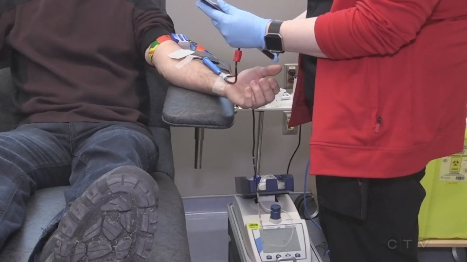 One blood donation can help three people