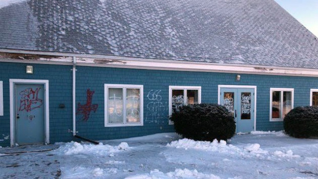 Vandalism at Our Lady of Assumption Church, P.E.I.
