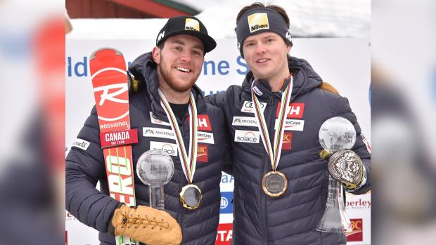Para-alpine skier Mac Marcoux & guide Jack Leech