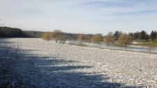 Grand River ice jam