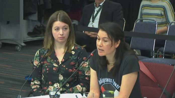 Allison Reid and Nakuset speak at the Viens Commission.
