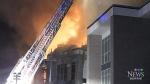 Fire destroys townhouses