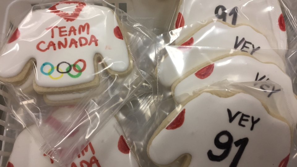 The town of Wakaw, which has declared Feb. 14, 2018, as Vey Day, is celebrating after Linden Vey, from the town, was named as the only Saskatchewan-born member of Canada's men's hockey team at the 2018 Olympic Games. (Pat McKay/CTV Saskatoon)