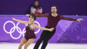 Canada's Meagan Duhamel and Eric Radford compete in the pairs figure skating free program at the Pyeonchang Winter Olympics in Gangneung, South Korea on Thursday, Feb. 15, 2018. THE CANADIAN PRESS/Paul Chiasson