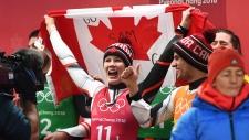 Team Canada celebrate their silver medal