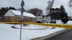 Police tape is shown at the scene of a shooting near Albion Road and Byng Avenue on Thursday morning. (Peter Muscat)