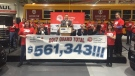 Ford autoworkers announce a $561,343 donation to the United Way of Windsor-Essex. (Sacha Long / CTV Windsor)