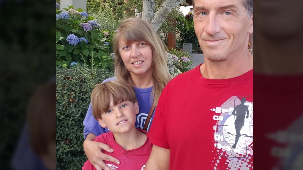 Terese and Leif Kristiansen and their son Kai
