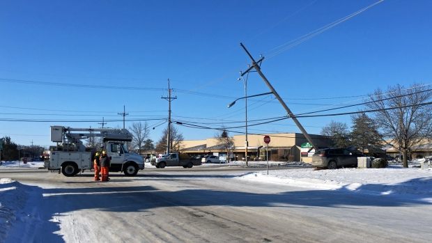 Airport Drive power pole crash