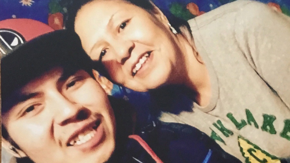 Joey Knapaysweet is shown in this handout image taken before leaving for Timmins, Ont. The grieving mother of a young Indigenous man killed by police in northern Ontario spoke out Thursday, saying the family remains in shock and still doesn't understand why her son died. (THE CANADIAN PRESS / HO)