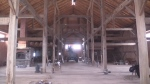 The inside of a barn in Brussels Ontario